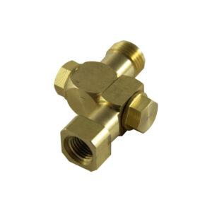1/4″ FPT Brass Single Swivel Nozzle Body